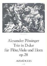 Trio D-Dur op. 28 -Flöte Viola Horn - Partitur + Stimmen laflutedepan.com
