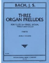 3 Organ Preludes - Flute violin viola cello - Parts laflutedepan.com