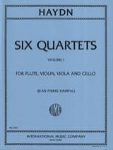 HAYDN - 6 Quartets Volume 1 - Flute violin viola cello - Parts - Partition - di-arezzo.fr
