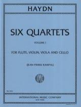 Joseph Haydn - 6 Quartets (Volume 1) - Flute violin viola cello - Parts - Partition - di-arezzo.fr