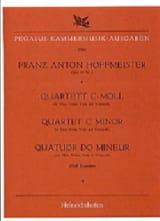 Franz Anton Hoffmeister - Quartett c-moll –Flöte Violine Viola Cello - Partition - di-arezzo.fr