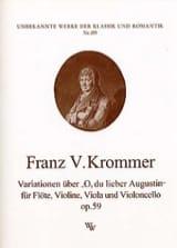 Franz Krommer - Variationen op. 59 über O, du lieber Augustin - Partition - di-arezzo.fr