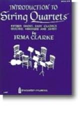 Introduction to String Quartets - Book 1 Irma Clarke laflutedepan.com