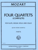 MOZART - 4 Quartets Complete - Violin viola viola cello - Parts - Sheet Music - di-arezzo.co.uk