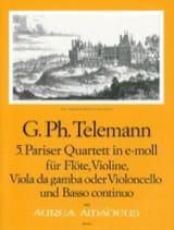 TELEMANN - Pariser Quartett Nr. 5 e-moll -Flöte Violine Viola da gamba BC - Partition - di-arezzo.fr
