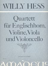 Quartett, Op. 141 - Cor Anglais-Violon-Alto-Violoncelle - laflutedepan.com