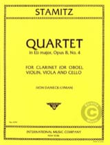 Quartet E flat op. 8 n° 4 - Clarinet violin viola cello laflutedepan