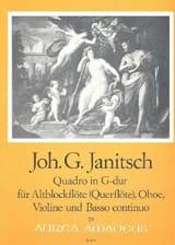 Johann Gottlieb Janitsch - Quadro G-Dur Sol M. - Flûte A Bec Alto Ou Flûte-Hautbois-Violon-B. C. - Partition - di-arezzo.fr