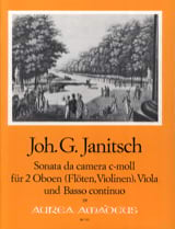 Johann Gottlieb Janitsch - Sonata da camera c-moll op. 5 - 2 Oboen Viola BC - Sheet Music - di-arezzo.co.uk