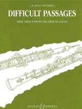 Difficult Passages BACH Partition Hautbois - laflutedepan.com