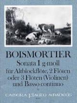 Joseph Bodin de Boismortier - Sonata Nr. 1 op 34 g-moll –Altblockflöte 2 Flöten u. BC - Partition - di-arezzo.fr