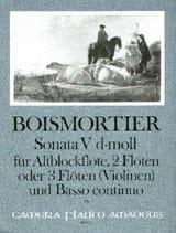 Joseph Bodin de Boismortier - Sonata Nr. 5 d-moll –Altblockflöte 2 Flöten u. BC - Partition - di-arezzo.fr