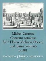 Concerto Comique Opus 8 N° 1 Michel Corrette laflutedepan.com