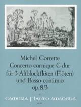 Concerto comique in C-Dur op. 8 n° 3 - 3 Altblockflöten BC laflutedepan.com