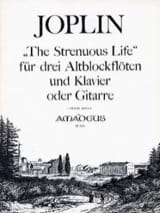 The Strenuous Life -3 Altblockflöten Klavier Gitarre laflutedepan