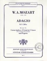 Wolfgang Amadeus Mozart - Adagio KV 580a –Corno ingelse, 2 Corni in C-basso Fagotto - Partition - di-arezzo.fr