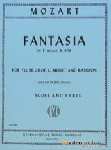 MOZART - Fantasia in F minor KV 608 - Flute oboe clarinet bassoon - Score + parts - Partition - di-arezzo.fr