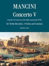 Concerto 5 -flauto 2 violini e bc Francesco Mancini laflutedepan