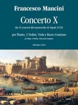 Francesco Mancini - Concerto 10 –flauto 2 violini viola e bc - Partition - di-arezzo.fr