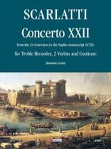 Concerto 22 -Flauto 2 violoni e bc Alessandro Scarlatti laflutedepan