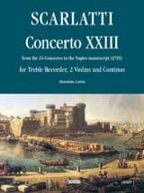 Concerto 23 -Flauto 2 violoni e bc Alessandro Scarlatti laflutedepan