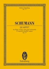 SCHUMANN - Quartett Es-Dur Op. 47 - Conducteur - Partition - di-arezzo.fr