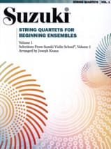 String Quartet For Beginning Ensembles Volume 1 - laflutedepan.com