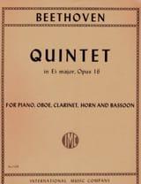 BEETHOVEN - Quinteto en Eb. - Piano, Oboe, Clarinete, Cuerno y Fagot - Partitura - di-arezzo.es