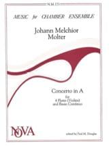 Concerto in A -4 Flutes violins and BC laflutedepan.com