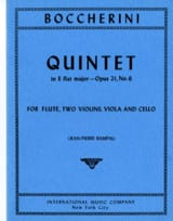 Quintet E flat major op. 21 n° 6 (Parts) – Flute 2 violins viola cello - laflutedepan.com