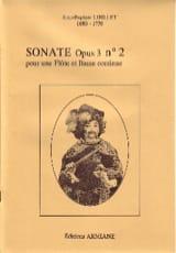 Sonate Opus 3 N° 2 LOEILLET Partition Flûte traversière - laflutedepan