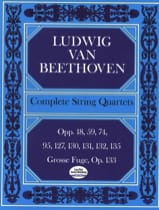 BEETHOVEN - Complete String Quartets - Conductor - Sheet Music - di-arezzo.co.uk