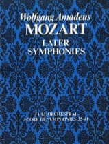 Later Symphonies (N° 35-41) - Full Score - Conducteur - laflutedepan.com