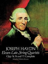 11 Late String Quartets, Op. 74, 76, 77 HAYDN Partition laflutedepan