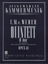 Carl Maria von Weber - Quintett B-Dur op. 34 - Klarinette Streichquartett - Partition - di-arezzo.fr
