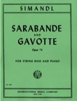 Sarabande et Gavotte op. 74 Franz Simandl Partition laflutedepan.com