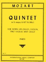 MOZART - Quintet in E Major Flat KV 407 - Horn Violin 2 Violas Cello - Parts - Sheet Music - di-arezzo.co.uk