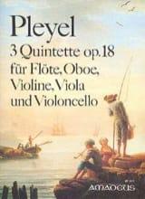 3 Quintettes Opus 18 Ignaz Pleyel Partition laflutedepan.com