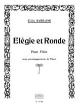 Elegie et Ronde Elsa Barraine Partition laflutedepan.com