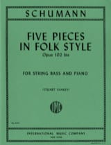 5 Pieces in Folk Style op. 102 bis SCHUMANN Partition laflutedepan.com