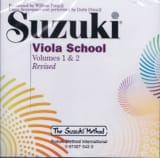 Viola School Volume 1 & 2 - CD Seuls Suzuki Partition laflutedepan.com