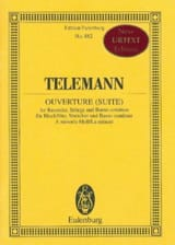 Georg Philipp Telemann - Ouverture (Suite) en la Min. - Partition - di-arezzo.fr