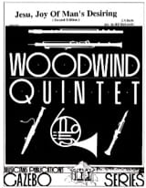 Johann Sebastian Bach - Jesu, Joy of Man's desiring –Woodwind quintet - Partition - di-arezzo.fr