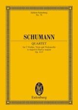 Streichquartett A-Dur Op. 41/3 - Conducteur SCHUMANN laflutedepan.com