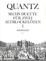 Johann Joachim Quantz - Six Duos pour Flûte à Bec Alto - Partition - di-arezzo.fr