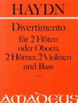 HAYDN - Divertimento - 2 Flöten 2 Hörner 2 Violinen Bass - Stimmen - Sheet Music - di-arezzo.co.uk