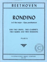 BEETHOVEN - Rondino in E Flat major op. posth. - Parts - Partition - di-arezzo.fr