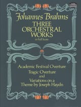 BRAHMS - 3 Orchestral Works - Full Score - Sheet Music - di-arezzo.co.uk