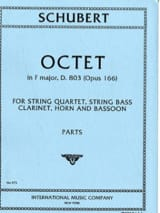 SCHUBERT - Octet In F M, Op. 166 - Clarinet-Horn-Bassoon-String Quartet-Double Bass - Sheet Music - di-arezzo.co.uk