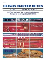 Keith Snell - Belwin Master Duets, Volume 1 Flute Intermediate - 2 Flûtes - Partition - di-arezzo.fr